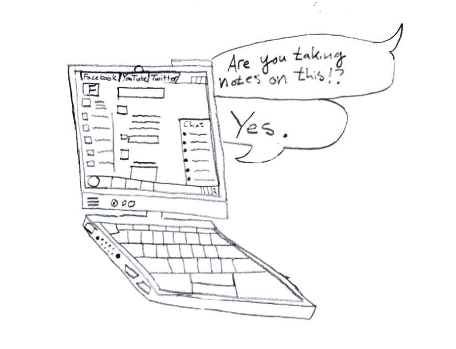 Though computers can help students take notes and turn in assignments, they also unleash access to social media and games.