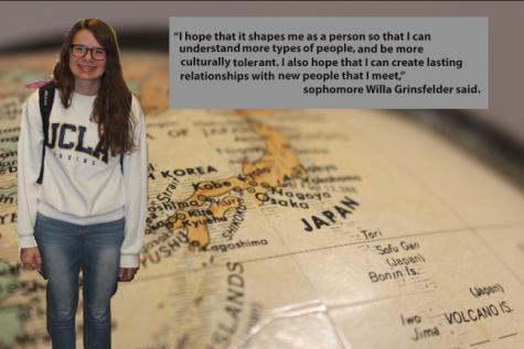 Sophomore Willa Grinsfelder departed for Japan on Mar. 18.