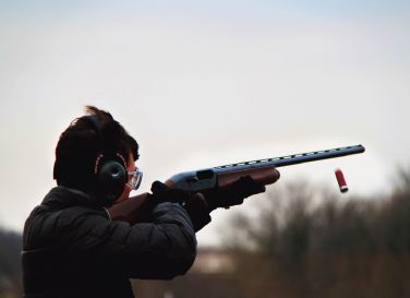 Sophomore Will Donaldson practices at the Minneapolis Gun Club on April 12.