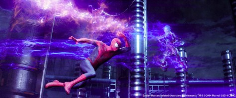 Spiderman battles Electro in The Amazing Spider-Man 2.  Andrew Garfield [Spider-Man/Peter Parker] gives a spot on performance of the life of a teen with the qualities it takes to save the world a couple times over and Jamie Fox [Electro] plays a fantastic villain.