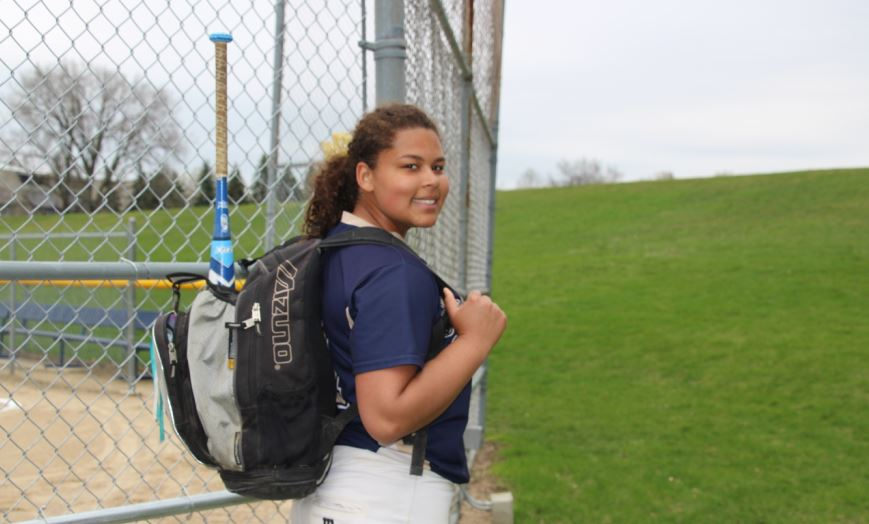 Senior Jonte Claiborne  is busy going from her senior project to softball games and practices.