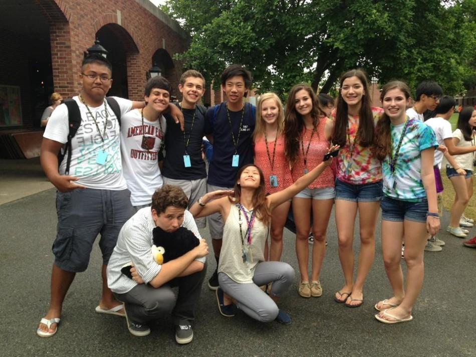 Sophomore+Caroline+Montague+poses+for+a+picture+with+other+college+prep+campers.+%E2%80%9CI+do+it+for+the+experience%2C+learning+and+otherwise%2C+you+aren%E2%80%99t+really+thinking+about+college+preparatory+activities+when+you+are+eight%2C+so+I+can%E2%80%99t+say+that%E2%80%99s+what+drew+me+to+it%2C%E2%80%9D+Montague+said.
