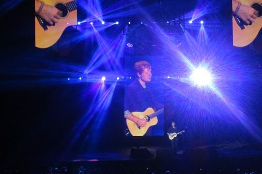 Ed Sheeran performs at the Target Center in Minneapolis on Sept. 15.