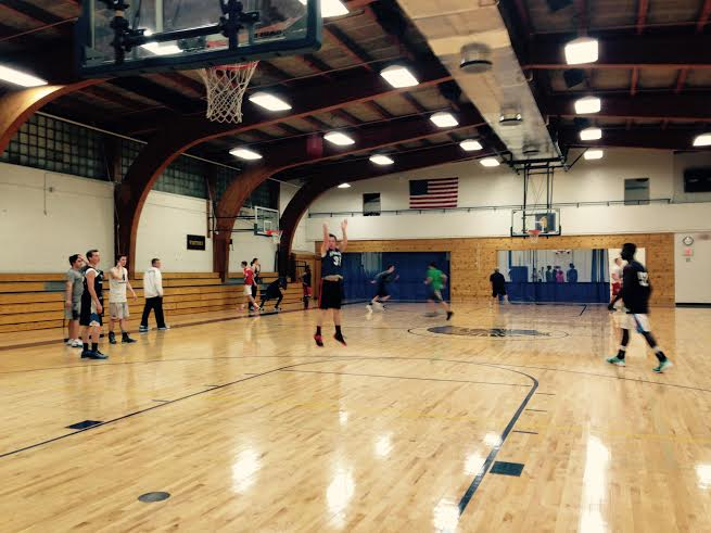 The boys basketball team practices in Briggs Gymnasium.