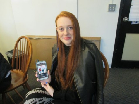 """Senior and Spotify user Kennedy Strombeck listens to her favorite music especially Dolly Parton. """"I put every song that I like on a playlist,""""  Strombeck said."""
