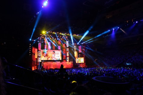 """The We Day event held on Nov. 11 at the Xcel Energy Center. """"I was disappointed with We Day; it was more about asking for money, self advertisement and self promotion than inspiring change,"""" junior Cait Gibbons said."""