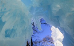 Walking through the ice castles gives a new perspective for viewing the Minnesota winter.