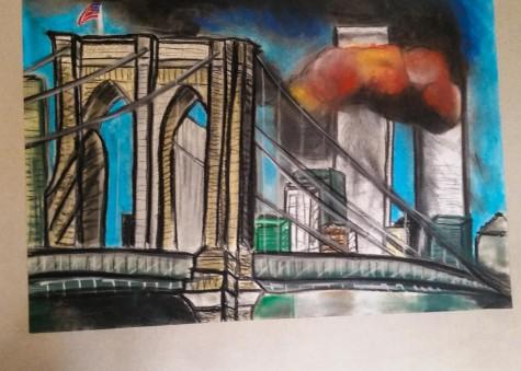 The Brooklyn Bridge by senior Eva Zaydman.