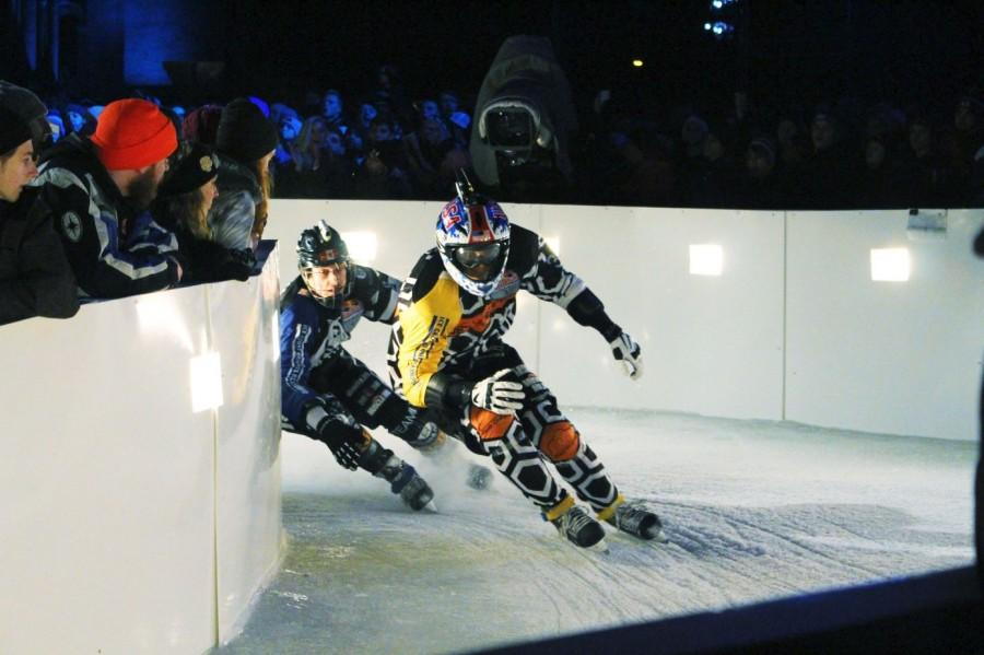 "Ice cross downhill is a relatively new extreme sport which was created by the energy drink company Red Bull in 2001. It combines ice hockey, motorcross, and roller derby as four skaters are sent down in icy slope rife with obstacles.  Lombard has attended Crashed Ice in past years and once even participated in the opening ceremonies. ""[Crashed Ice is] pretty crazy, but it's still a pretty cool event,"" sophomore Weston Lombard said."