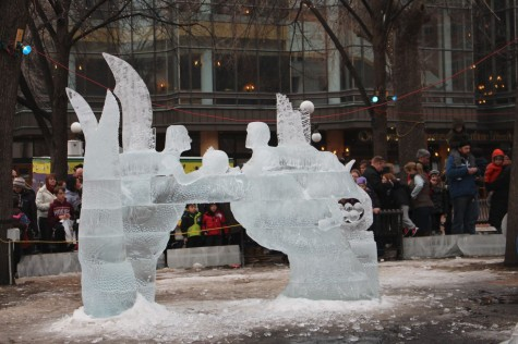 """THE ice sculpting competition at Rice Park drew huge crowds. """"When my family and I first moved to Minnesota we went to Rice Park during the Winter Carnival because we thought it would give us a good idea of what Minnesota is like,"""" sophomore Genevieve Zanaska said."""