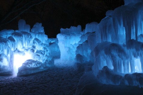 "The ice castles are made solely out of ice, and about 500,000 icicles are harvested for it each year, and are lit up different colors every night. ""They looked kind of like massive piles of fancy whipped cream, but in ice form,"" Upper School English teacher Emily Anderson said."