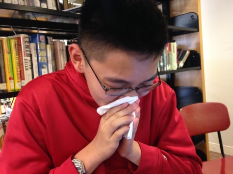 Sophomore Elliott Tong suffers from spring allergies.