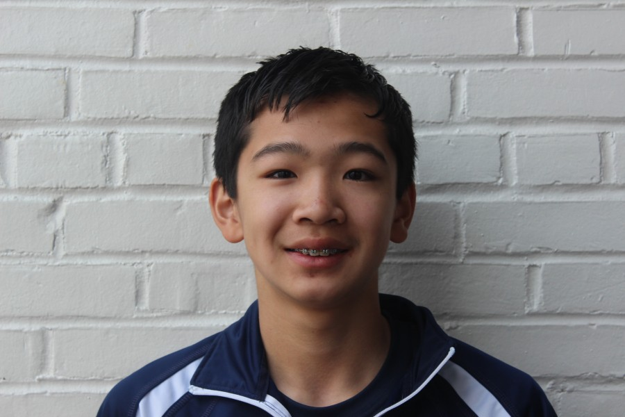 Freshman Larry Chen smiles for the camera.