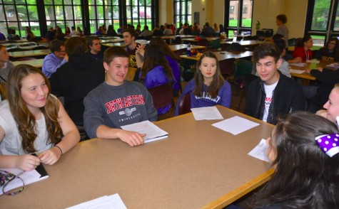Seniors return for project check-in