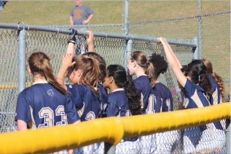 The varsity girls softball team finished with an overall record of 3-17 this year.