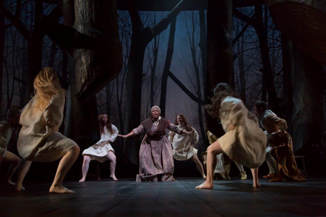 The opening scene of The Crucible.