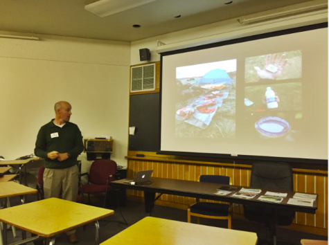 Collins tells students and faculty about his trip in Mongolia.