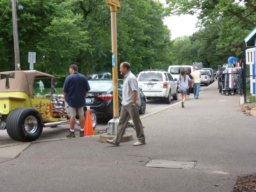 Woody Harrelson is spotted strolling on the streets of Woodbury near the shooting location.