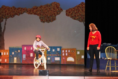 "Sixth grader Isabella Tunney (Debbie Fine) pedals to save her family and stop robbers, while seventh grader Maren Ostrem, Debbie's older self, narrates the adventurous story of Dizzy Fantastic. ""When Debbie learns that she can fly on her bicycle, she feels empowered to become Dizzy Fantastic, super hero!"" Hueller said."