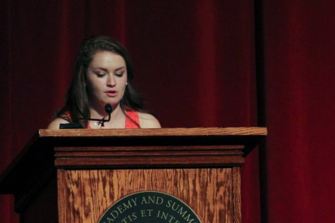 Senior speakers begin with humor, end with passionate calls for change
