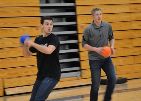 Senior Lukas Kelsey-Friedemann and junior Tommy Dicke face their opponents during the tournament.