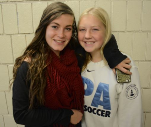 Senior Liz Shaheen mentored freshman Emma Sampson throughout the soccer season