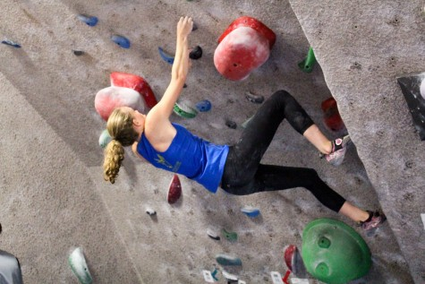 """Kuller has been climbing for three years. """"The people are always really positive and supportive. It's a really great community. It's just fun like any sport you do-you just enjoy it,"""" she said."""