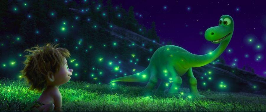 The Good Dinosaur tells the story of a dinosaur named Arlo and a human named Spot.