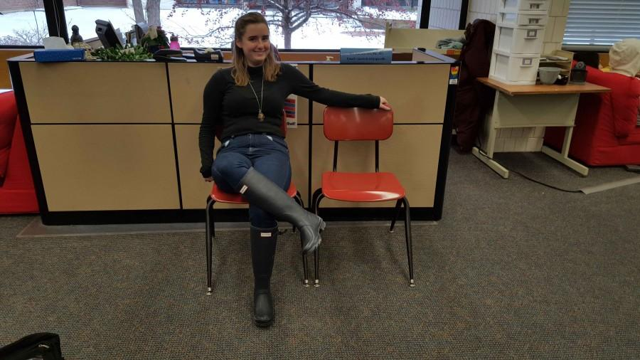"Junior Hannah Stanley does a low power pose. ""I suppose [I would power pose] if I consciously remember,"" she said."
