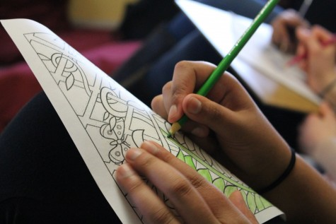 Peer Helpers hosted a coloring session for Mental Health Awareness Week.