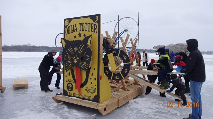 The Ouija Totter was one of the most well made and creative shanties. But there was no reason for it to be on a lake in the middle of the winter.
