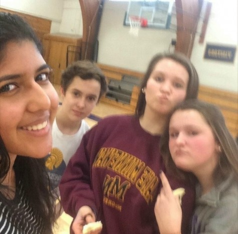 Senior Gitanjali Raman, freshmen Henry Hallaway, Lucie Hoeschen, and Betsy Romans completed the course with a record time of 1:04 minutes. Students competed in SADD's drunk goggle obstacle course during X-period.