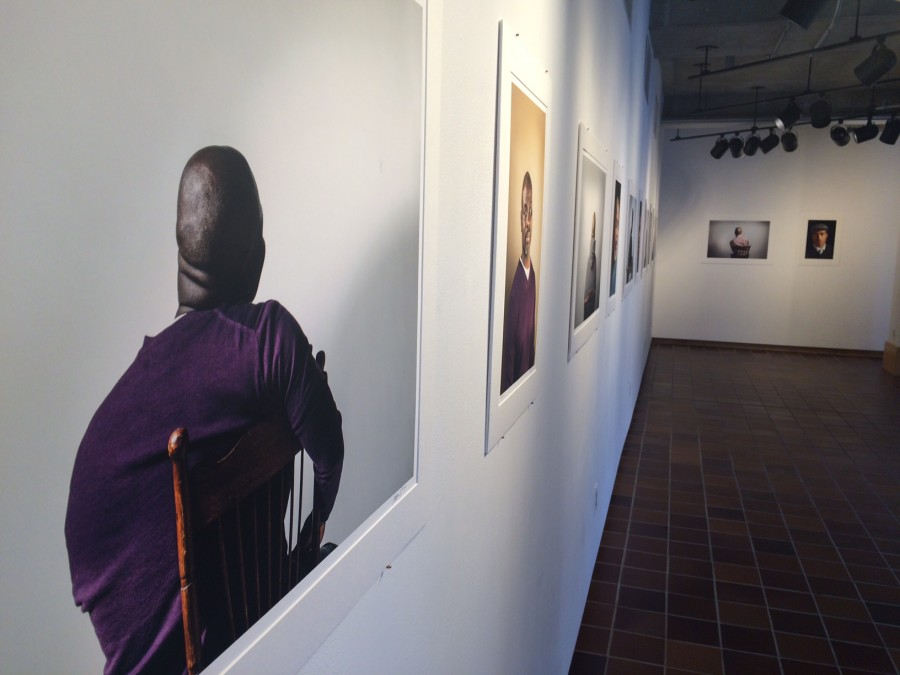 Artist Stephanie Seguino's work is displayed in the exhibition Radical Empathy in the Drake Gallery.