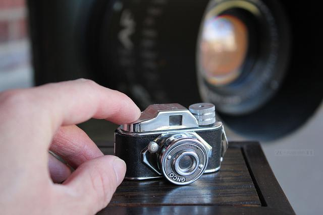 Detectives and spies are very different, but both are known for employing microscopic gadgets, like this Kodak camera, to get the information they need. Let the film spies and detectives make you gasp and laugh this Saturday at the Film Club movie marathon.
