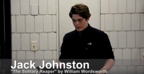 Junior Jack Johnston recites