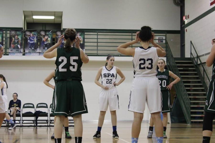 The St. Paul Academy and Summit School Girls Varsity Basketball team lost 17-56 against Concordia Academy at Concordia Academy on Mar. 3.