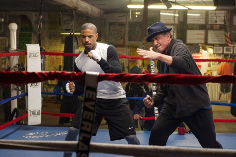 Rocky (played by Sylvester Stallone) trains Adonis(played by Michael B. Jordan. Director Ryan Coogler works hard to create a deep emotional connection between the two characters.