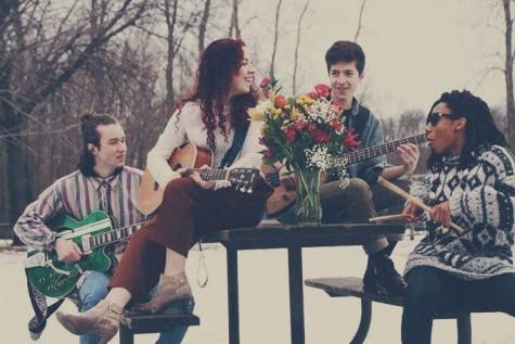 Jones and Vinholi play in the band Good Luck Finding Iris