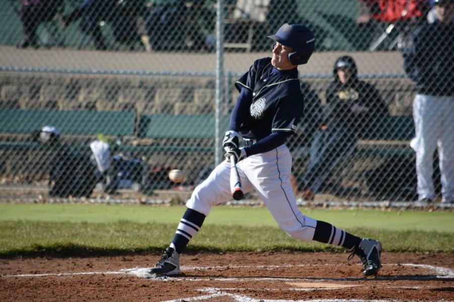 Junior Weston Lombard laces a ball into center field to bring home two runs.