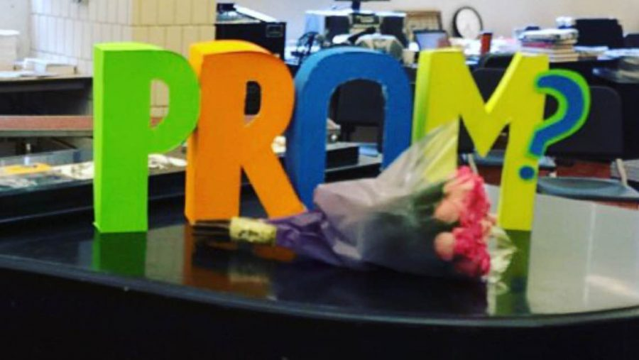 As part of a promposal this year, an SPA senior constructed this 3D prop and sang.