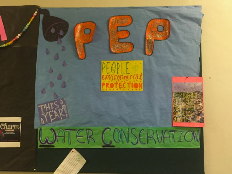 Like all student groups, PEP has a bulletin board in the history hallway to display things about their club. We hope our new initiatives and what not will bring lots of new members next year! Come join PEP! junior Maya Kachian said.
