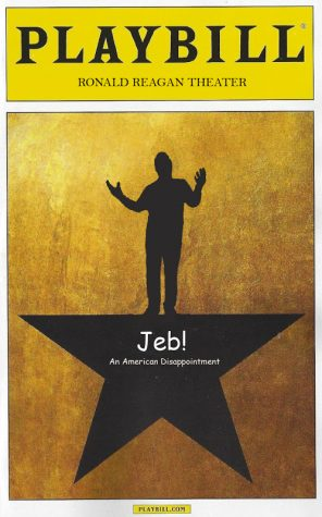 Jeb! An American Disappointment is a full parody of Hamilton, the Broadway show.
