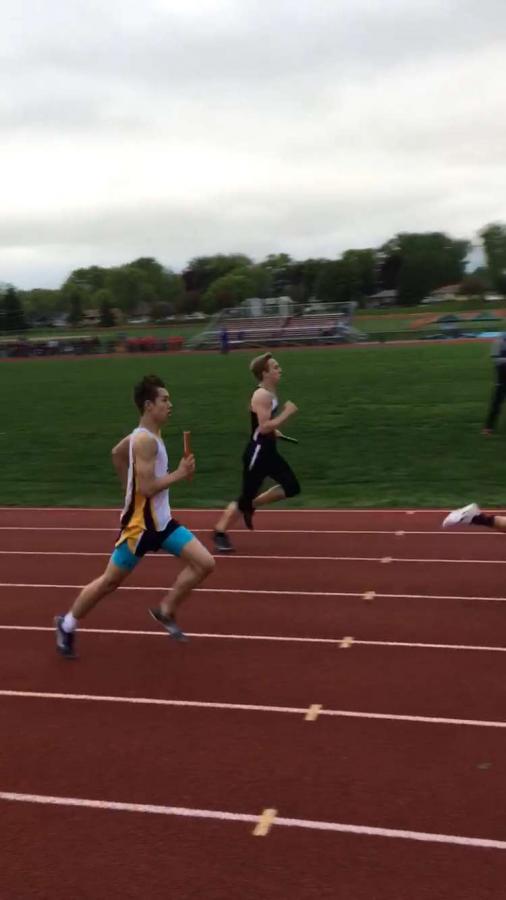 First year runner, Freshman Koji Gutzmann runs in the meet at St.Croix Lutheran.