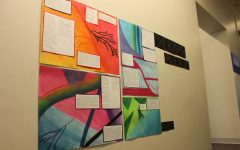 Poetry students share projects with school through posters