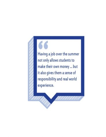 Students can earn money, experience, and independence through summer jobs
