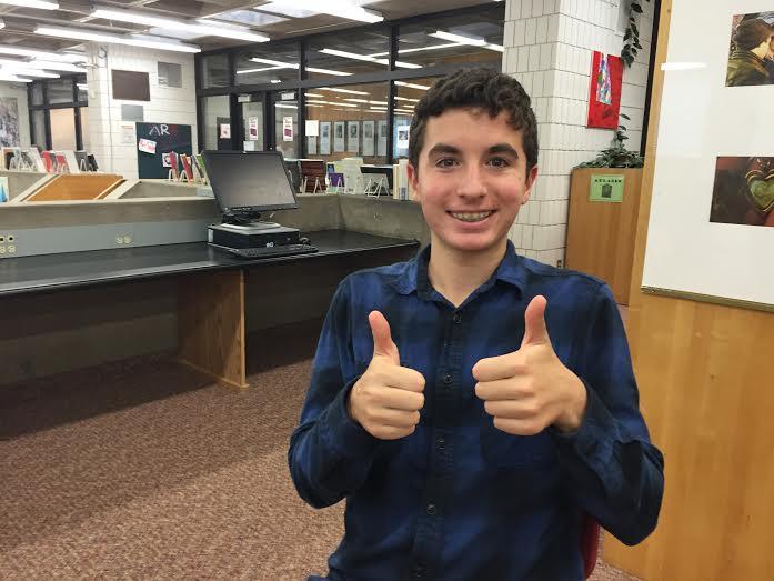 Sophomore Eli Striker was elected as a class representative for SAC. Im pumped, Striker said.