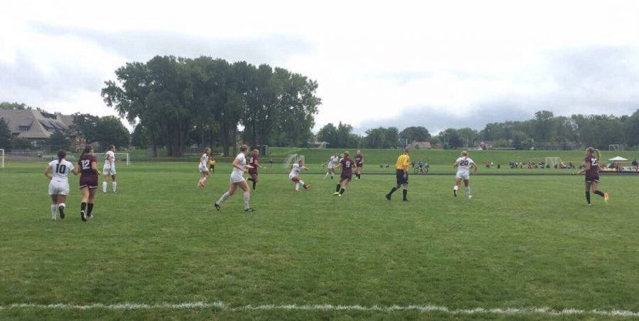 Girls Varsity Soccer loses 4-2 to South St.Paul in the home opener on Aug. 27.