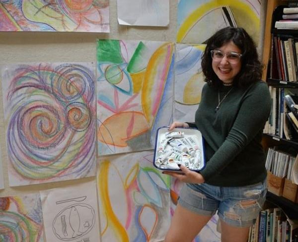 "Junior Mira Zelle enjoys working on her art and taking classes at Studio Seven art studio. She enjoys art so much that she believes her art is a part of her personality. ""I don't see it as a hobby. It's more just like a thing I do, like breathing or eating."" Zelle said."