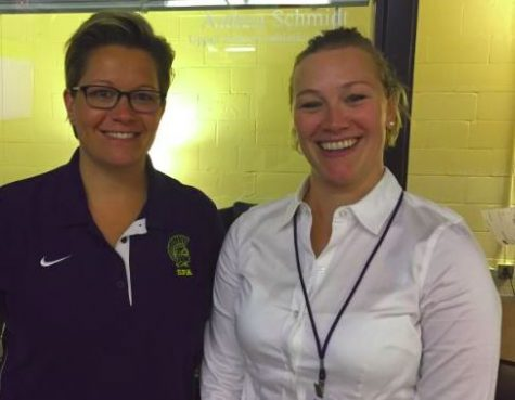 "Director of Athletics Dawn Wickstrum and Upper School Athletic Director Andrea Schmidt worked on new policies for the athletic department. As part of new developments in the athletic department, a screen was added in the athletic hallway. ""We got a TV screen [in the athletic hallway] and all announcement stuff will go there, and all of that information will also be online,"