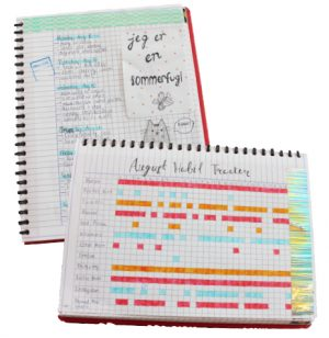 """KEEPING TRACK. Senior Elena Macomber creates and uses bullet journals to keep track of both her intrinsic and extrinsic goals daily, weekly, and monthly. """"[Having goals] makes me happier and definitely more organized because they [involve things] that are important to me,"""" Macomber said."""